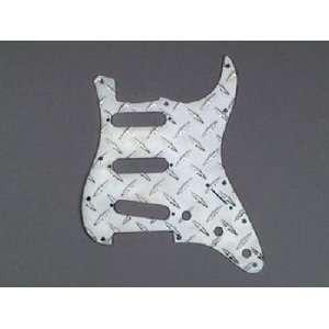 Strat Pickguard Polished Aluminum Diamond Plate 11 Hole