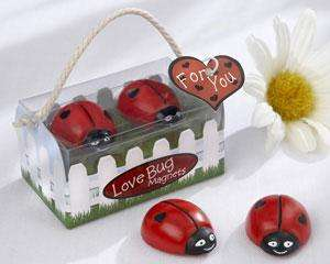 48   Love Bug Ladybug Magnets Baby Shower Favors
