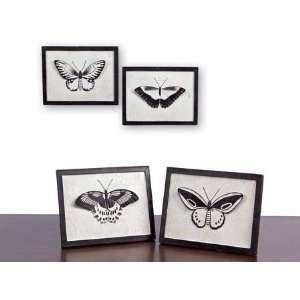 Set of 4 Garden Getaway Modern Bold Black & White