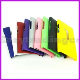 9x Hard Rubberized Back Cover Case for Nokia N9 Black Blue Pink Purple
