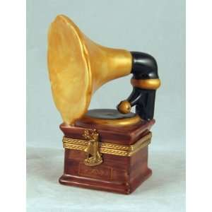 Phonograph Gramophone French Limoges Box