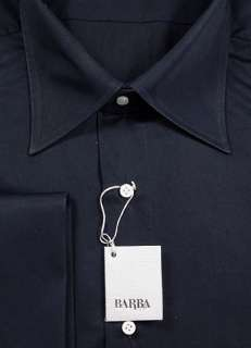 New $375 Barba Napoli Navy Blue Shirt 18.5/46