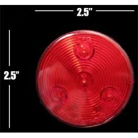 Red LED Marker Light Truck Trailer Boat RV Tractor Automotive