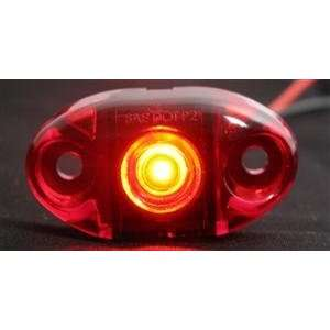 Red LED mini Marker Cab Light Truck Trailer Boat Car Automotive
