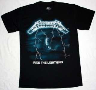 THE LIGHTNING84 MEGADETH ANTHRAX HEAVY METAL NEW BLACK T SHIRT