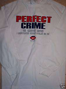 NEW YORK GIANTS SUPER BOWL PERFECT CRIME L/S T SHIRT L