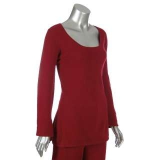 Sutton Studio Womens Pink Cashmere Tunic & Pants Set