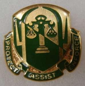 503rd MILITARY POLICE BATTALION 1960s ARMY MP DI CREST