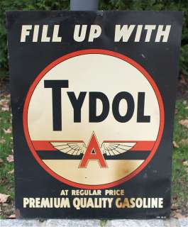 Veedol Tydol Gas and Oil Metal Advertising Sign Product Image