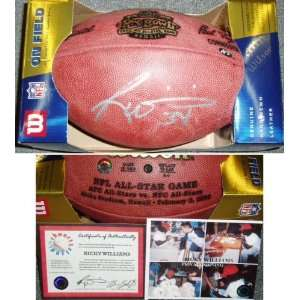 Ricky Williams Signed 2003 Pro Bowl NFL Game Ball  Sports
