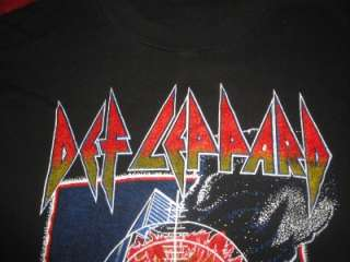 Def Leppard Pyromania T Shirt Concert Tour Thick Ink XL