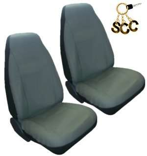 SEAT COVERS Car Truck SUV Synthetic Leather Grey 5/pc