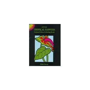 Flowers Stained Glass Coloring Book (Dover Stained Glass Coloring