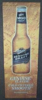 Miller Genuine Draft 2 Sided Banner Sign 36 x 12 BEER