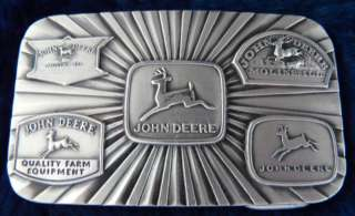 John Deere Logo Signs Farming Agriculture Belt Buckle