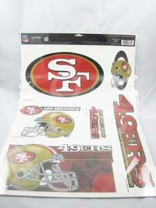 NFL San Francisco 49ers 11x17 Window Decal Sticker B