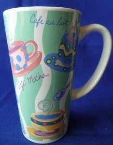 Tall Coffee Cup Mug Riviera Van Beers Cappuccino Green