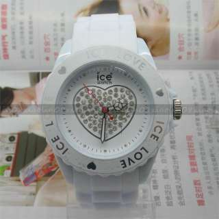 13 colors FASHION Wrist Watch Love Heart Wheel jewelry Unisex Jelly