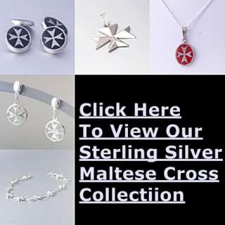 MALTA MALTESE CROSS Jewellery Hallmarked Sterling Silver Pendant Cubic