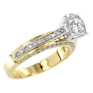 35 ct Verragio Engagement Ring Setting Two Tone Gold