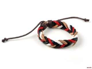 Wholesale Lots bulk Fashion Handmade Braided PU Leather Bracelet