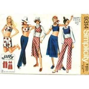 Simplicity 9314 Sewing Pattern Misses Retro Hip Hugger Pants