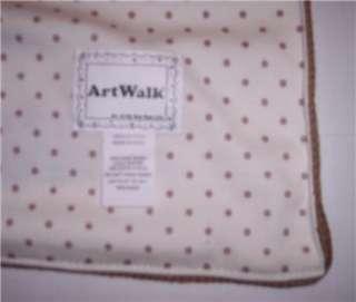 Artwalk Baby Blanket Knit Pirate Treasure Map Lined New