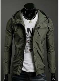 2011 New Mens fashion design Slim casual hooded jacket # 1658
