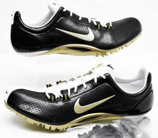 New NIKE ZOOM JA Mens Track & Field Shoes Spikes, 13, Black & Gold