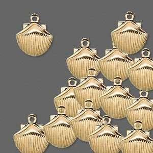 Wholesale Lot Gold Sea Shell Drop Charms Jewelry 25 pcs