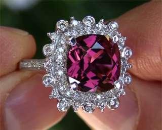 Natural Pink Rubellite Tourmaline Diamond Vintage Ring 14k Gold