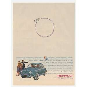 1961 Renault Dauphine 30 ft Turning Circle Print Ad (19680
