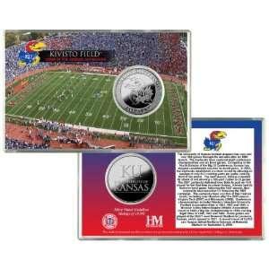 University Of Kansas Kivisto Field Silver Coin Card