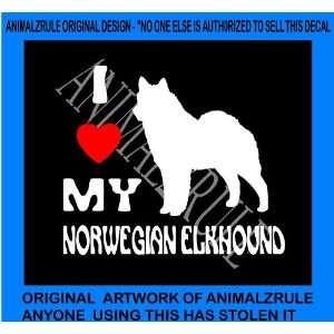 NORWEGIAN ELKHOUND DOG VINYL DECAL