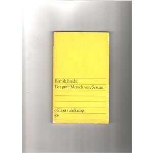 Der gute Mensch von Sezuan Bertolt Brecht Books