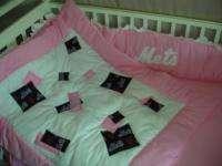 Pink Baby Nursery Crib Bedding Set w/NY New York Mets