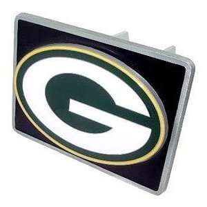 Green Bay Packers Pewter Trailer Hitch Cover With Black