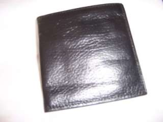 Rolfs Black Pebble Grain Cardex Leather Wallet