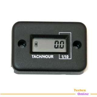 Inductive Tach / Hour Meter For Gas Engine, 2&4 Stroke