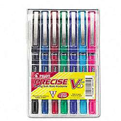 Pilot Precise V5 Roller Ball Stick Pen, Assorted Ink, Extra Fine Point