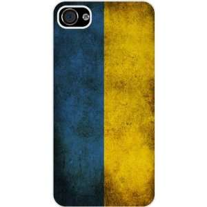 Rikki KnightTM Ukraine Flag White Hard Case Cover for Apple iPhone® 4