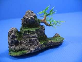 Mountain View Aquarium Ornament tree S size   Rock Cave
