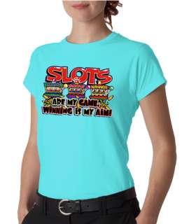 Slot Machine Winning Gambling Ladies Tee Shirt