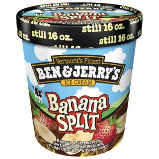 Ben & Jerrys Banana Split Ice Cream, 1 pt Frozen Foods