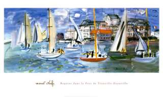 Regates Dans le Port de Trouville Posters by Raoul Dufy at AllPosters