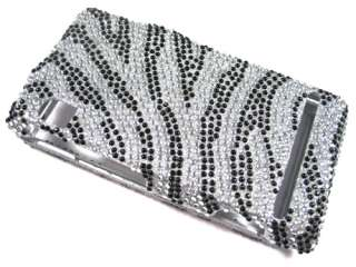 CRYSTAL BLING CASE COVER MOTOROLA DROID A855 1 ZEBRA