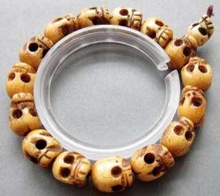 Ox Bone Skull Beads Tibet Buddhist Prayer Bracelet Mala