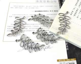20PCS Tibetan silver Long Leaf Charm FC13982