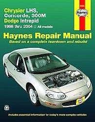 Haynes Repair Manual Chrysler Lhs,concorde,300m,dodge Intrepid, 1998