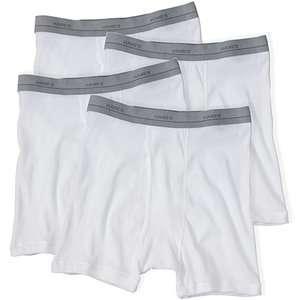 Hanes   Mens Knit Boxer Briefs, 4 Pack School Supplies